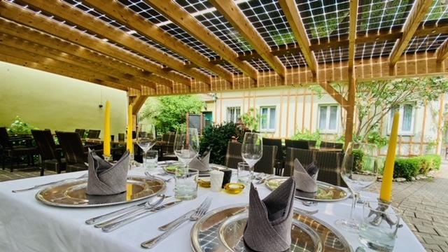 PV Solar im Biergarten